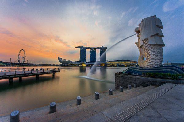 công viên sư tử biển merlion park tour du lịch singapore giá rẻ